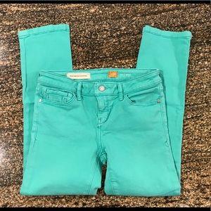 Anthropologie Pilcro crop jeans. Size26. Aqua